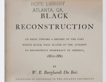 <i>Black Reconstruction </i>by W.E.B. Du Bois