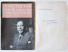 Foundational presentation copies of <em>In Battle for Peace</em>
