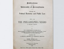 <em>The Philadelphia Negro</em> by W. E. B. Du Bois